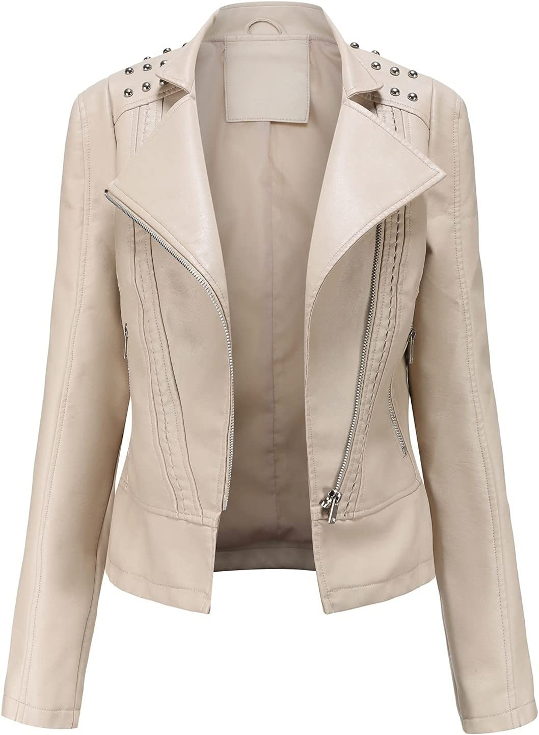 CRMY Women's Short Jacket Outlet SALE Made 40% OFF Cheap Sale of Motorcycl Faux Leather