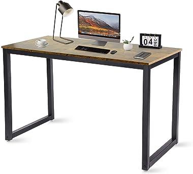 BRTLX Mesa de Escritorio, Mesa de Oficina Estilo Industrial, 120 x 60 x 75 Mesas Estudio para Oficina en Casa, Armazón de Met