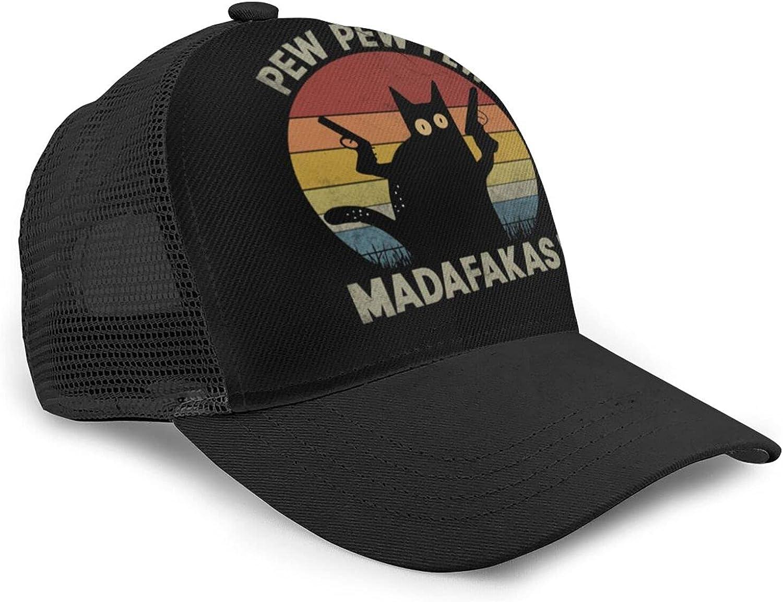 Breathable Sport Cap for Men Women Summer Running Hat Cat Pew Pew Madafakas Baseball Cap Dad Hat