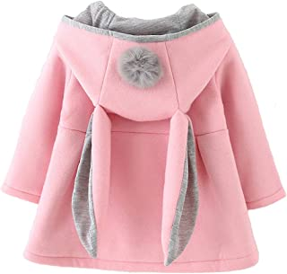 Baby Girl's Toddler Kids Fall Winter Coat Jacket Outerwear Ears Hood Hoodie