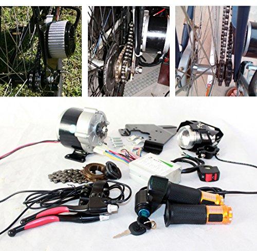 350W bicicleta electrica completa de piezas componentes de acelerador Ebike lente Faro...