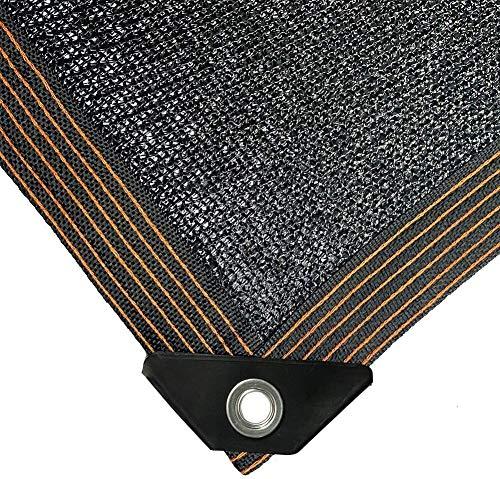 Sucastle Negro Pantalla de Tela Acoplamiento de la Red Tarp 70% de Sombra UV-Resistente Lona Borde de Cinta con la Planta de la Flor al Aire Libre Jardín Gromments (Size : 8mx8m)