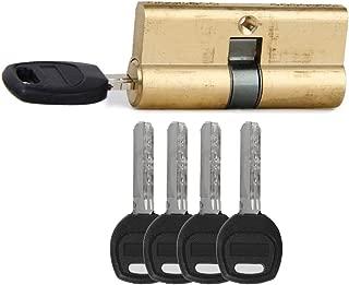 65MM 32.5/32.5 Door Lock Key Cylinder Barrel High Security Anti Snap/Bump/Drill/Pick with 7 keys