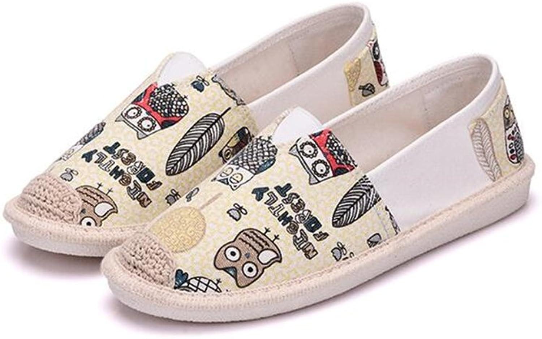 Quality.A Women's Canvas shoes Breathable Ladies Casual shoes Hemp Linen Ladies shoes