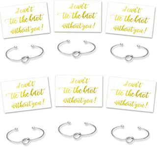 Ibride Bridesmaid Gifts Rose Gold, Silver Bracelets with Proposal Card Set of 4 6