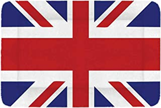 Union Jack Simple Pet Bed,Classic Traditional Flag United Kingdom Modern British Loyalty Symbol Decorative for Home,18-Inch
