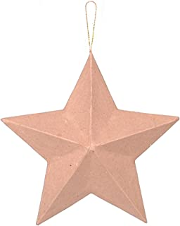 Darice, 8 Inch, Paper Mache Star with Gold String