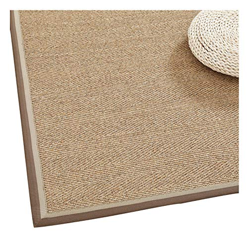 WHAOYEROK Sisal Area Rug, Braided Foldable Non-slip Edging Japanese Mat, Bedroom Living Room Entry Carpets, 10 Mm, 9 Sizes (Color : C, Size : 100x150cm)