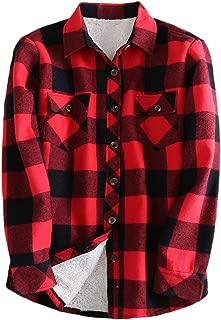 Women's Sherpa Lined Winter Flannel Plaid Shirt Jacket