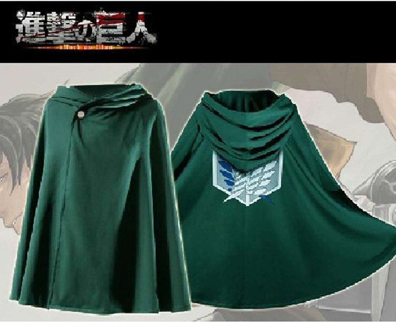 Las alas de la libertad capa con capucha Capa de anime Cosplay Survey Corps Capa Shingeki No Kyojin Manta con capucha Attack On Titan