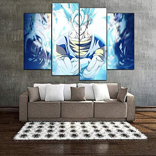 ANTAIBM® Kinderzimmer Schlafzimmer dekorative 4 Malerei Holzrahmen - verschiedene Größen - verschiedene StileWohnkultur Leinwand drucken Wandkunst Bild 4 Stück Malerei Super Anime Poster für Wohnzimme