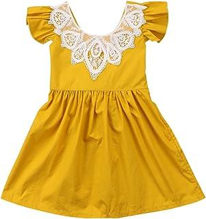 972e6b0ed0b Infant Toddler Flower Girl Romper Lace Collar Cotton Ruffle Sleeve Baby  Girls Spring Dresses