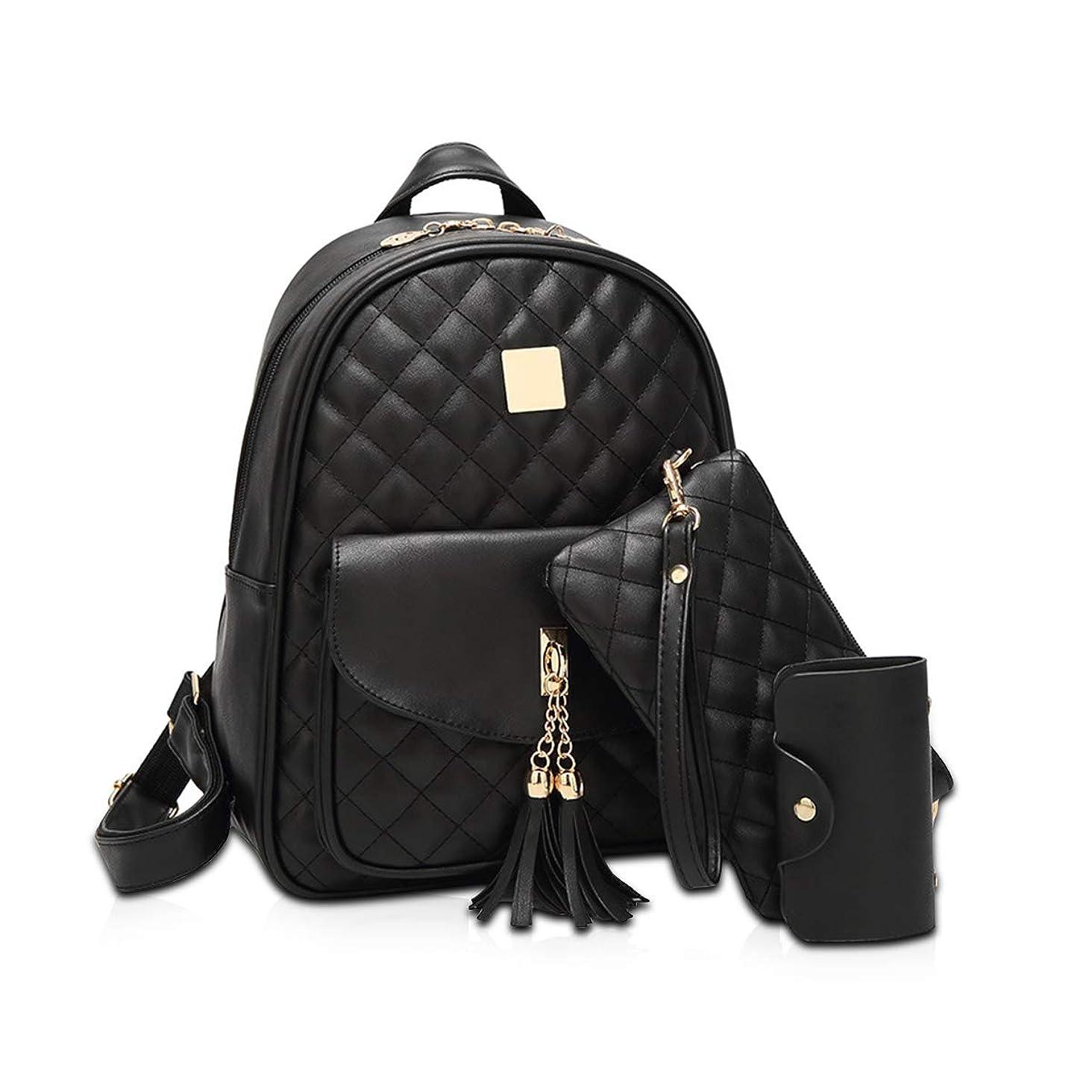 値するジュース流出NICOLE&DORIS ファッション バックパック レディース 大学生 かわいい リュック ショルダーバッグ 大容量 カジュアル 3WAY 人気 通勤 通学 旅行 バッグ PUレザー ブラック