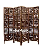 Sylvan Artistry Wooden Room Divider / Wooden Partition /Wooden Room Seperator/Separator for Living Room/Office/Wooden Snacky Design with Melamine Finish