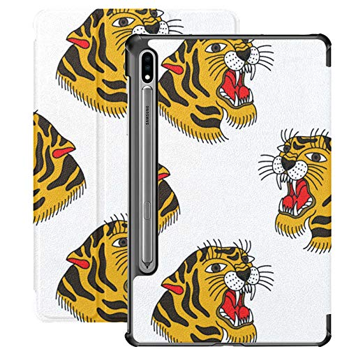Custodia Samsung Galaxy S7 plus Custodia tigre tradizionale Flash Pu Custodia in pelle per Samsung Galaxy Tab S7 Plus 12,4 pollici 2020, Samsung Galaxy Tab S7 plus Custodia Cover con auto-wake/slee