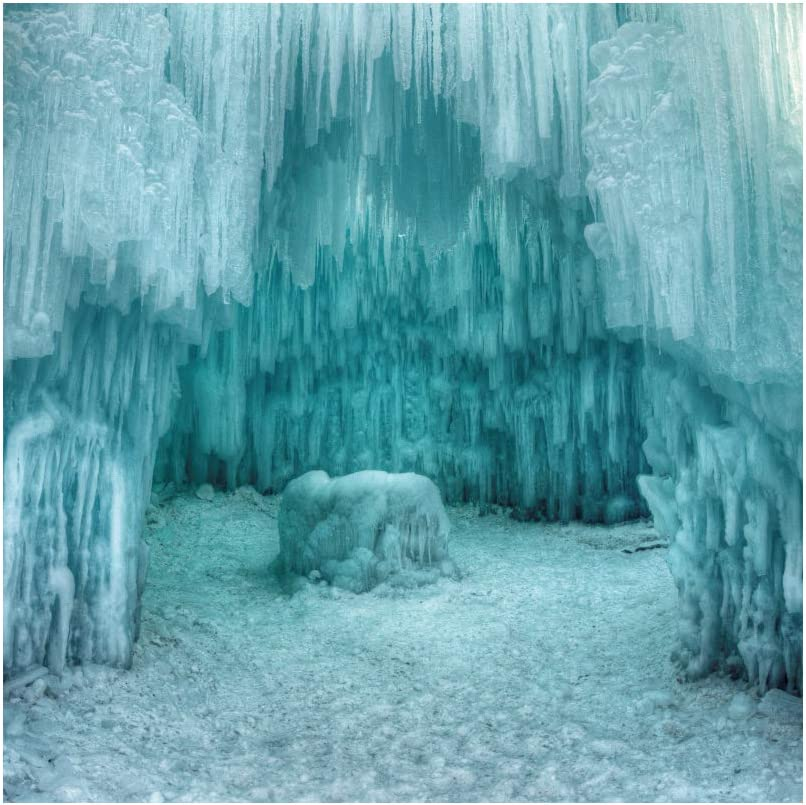Selling Leyiyi 8x8ft Glacier Backdrop Ice B Long-awaited Snow Icicle Photography Cave