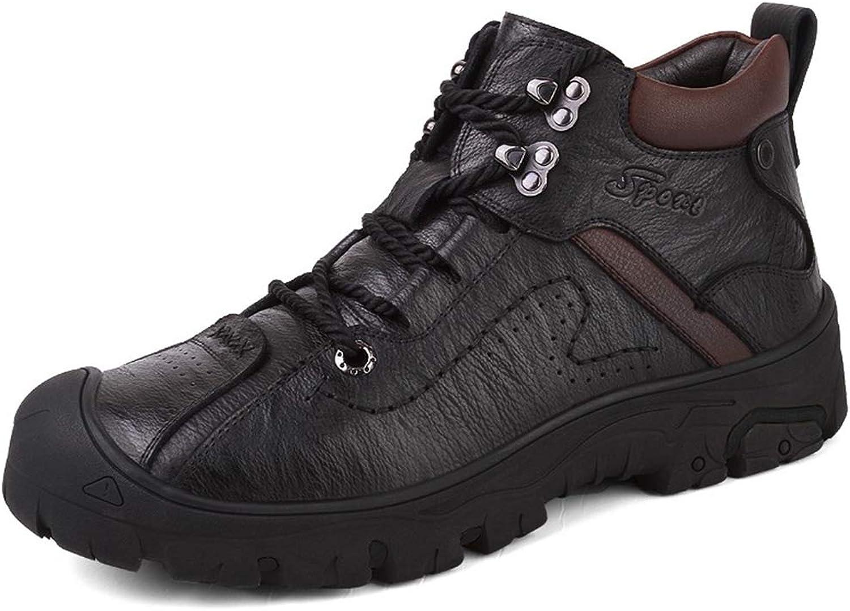 [Thin Cotton Optional] New Casual shoes Men's shoes Winter shoes Plus Velvet Warm Cotton shoes Outdoor Men's Snow Boots (color   Black, Size   40)