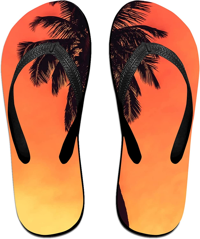 Tree in Sunset Flip-Flop Sandals for Summer Beach, Slippers for Men Women