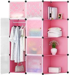 FHW Adulte Approfondir simple Chambre Armoire Combinaison de rangement en plastique Armoire de rangement résine armature e...