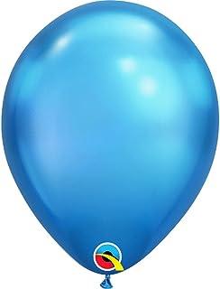 Qualatex Plain Chrome Latex Balloons 25-Pieces, 11-inch Size, Blue