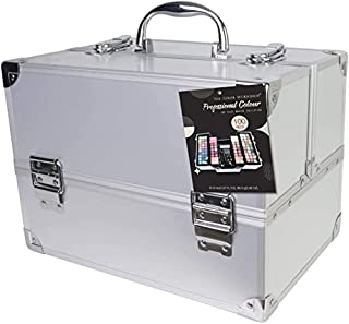 The Color Workshop - Professional Colour - Fashion Train Case with Complete Professional Makeup Kit for Eyes, Face, Nails ...