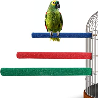 Jusney Bird Perch, Rough-surfaced Wooden Parrot Perch for Bird cage Perch Stand