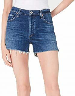 Citizens of Humanity Marlow Easy Fit Raw Hem Denim Jean Shorts