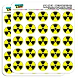 Radioactive Nuclear Warning Symbol 1' Planner Calendar Scrapbooking Crafting Stickers - Opaque