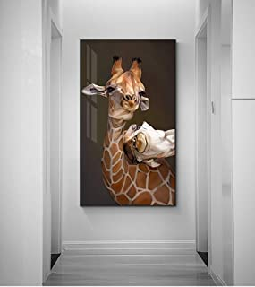 MYSY Abstract Mother's Love Painting Maternal Love Cute Animal Poster and Print Wall Pictures for Living Room Decor-50x90cmx1 pcs sin Marco