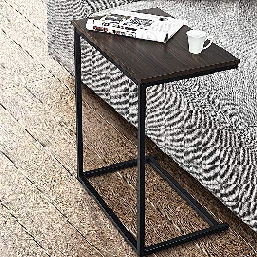 Olbrus Sofa Side End Tables, C Table Coffee Snack Couch Desk Tray Stand, Laptop Notebook Tablet PC Portable Bed Sofa Side Table Workstation, Over Bed Table (Marbling)