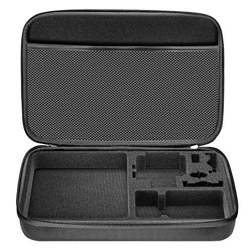 Neewer Shockproof Carrying Case Compatible with GoPro Hero 8 Max 7 6 5 4 Black GoPro 2018 Insta360 DJI AKASO APEMAN Campark SJCAM Action Camera etc and Accessories (Black, Large)