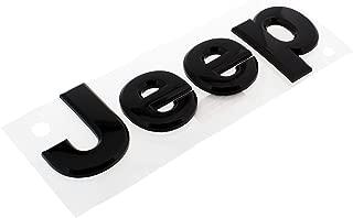 Jeep Grand Cherokee 2013 Gloss Black Jeep front hood emblem nameplate decal OEM