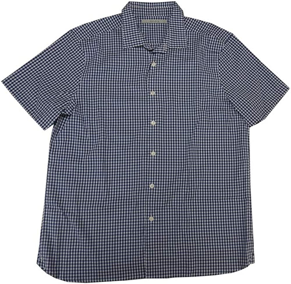 Perry Ellis Portfolio Mens Short Sleeve Woven Button Down Shirt