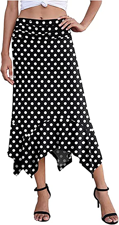 lkjh Women's 2021 Spring and Summer New Casual Elegant Handkerchief Casual Texture Skirt