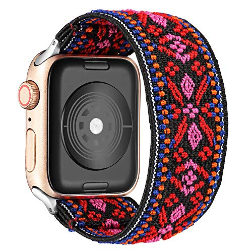 Elastic Watch Bands Replacement for Apple Watch 6, 38mm/40mm Watch Bands for Women Compatible with Apple Watch SE 6 5 4 3 2 1