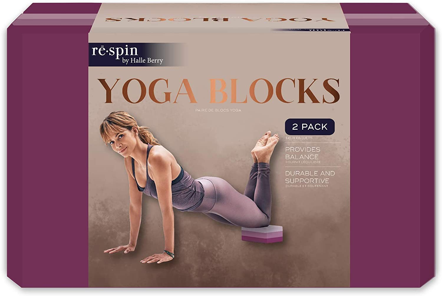 rē•Spin by Halle Berry Blocks Collection: Nippon Ranking TOP4 regular agency Yoga Fitness