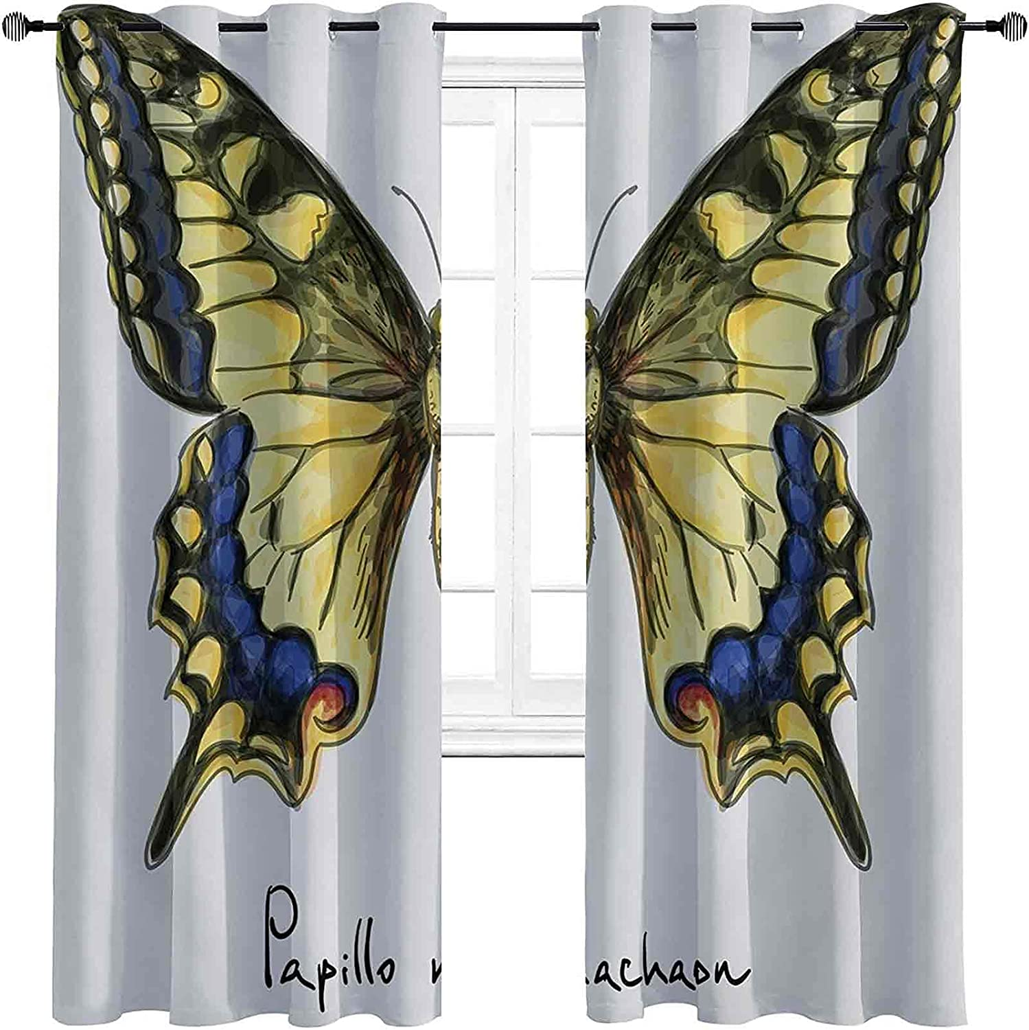 Blackout Swallowtail New Outlet sale feature product Butterfly Curtain Ma Yellow Common Papilio