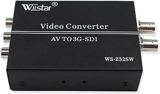 Wiistar AV CVBS to 3G-SDI Audio Video Converter Composite to SDI Converter Support 1080P for CRT HDTV to Camera