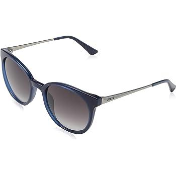 Guess Unisex-Erwachsene GU7503 90W 52 Sonnenbrille, Blau (Blu Luc/Blu Grad)