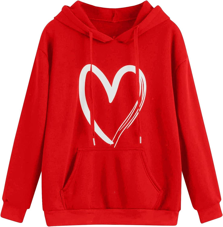 UOCUFY Womens Sweatshirts, Womens Casual Long Sleeve Loose Graphic Printed Pullover Hoodies Tie Dye Drawstring Tops