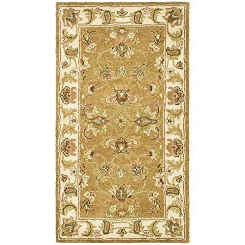 Safavieh Heritage Collection HG816A Teppich, handgefertigt, traditionell, orientalisch, Mokka und Elfenbein, Wolle, 70 x 120 cm