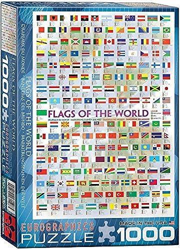 ventas al por mayor EuroGraphics Flags of the World World World Puzzle (1000-Piece) by EuroGraphics  el precio más bajo
