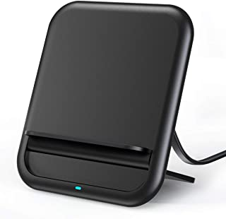 Wireless Charger Qi-Certified, 10W Fast Wireless Charging Pad Stand Foldable Slim, Compatible with iPhone X/XS/XR/Xs Max/Samsung Galaxy Note 9/S9/S9+ (Black)
