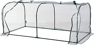 Outsunny Invernadero caseta 200x100x80cm Acero y plastico