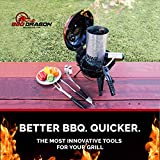 Charcoal Starter and Grill Lighter, BBQ Lighter Grill Fan / Battery-Powered Bellows Faster than Charcoal Chimney Starter BBQ Fan, Smoker Fan, Charcoal Lighter Weber Kettle Grill Accessory - BBQ Dragon