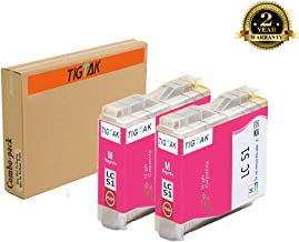 TigTak 2 Pack Replacement for Brother LC51 Compitable Ink Cartridge for Brother DCP-130C,DCP-330C,DCP-350C, Intellifax 1360, 1860C, 1960C, 2480C, 2580C, MFC-230C, MFC-240C Printers