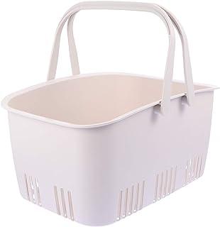 TEHAUX Panier à linge en plastique avec poignées - Grande capacité - Pour organiser la salle de bain, le garde-manger, les...