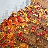 400 Stück Künstliche Ahornblätter Herbstlaub Kunst Farben Simulation Ahornblatt Perfekte Herbst Dekoration,Herbst Hochzeit Dekorationen-4 Farben - 6