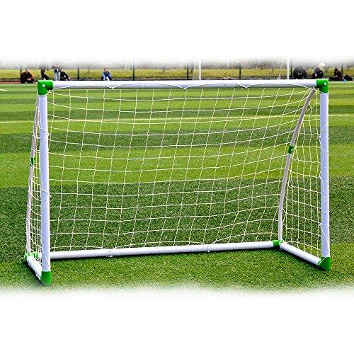 CASTAIN Portable Football Goal [6ft x 4ft] – Kids Adult Garden Goals Weatherproof PVC, Essential Locking System Design