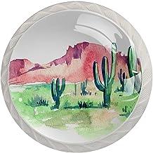 AITAI Plant Cactus woestijn boom ronde kast knop 4 Pack trekt handgrepen